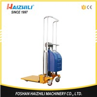 General industrial equipment light weight 400kg 1500mm light weight semi electric stacker