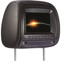 7'' Headrest DVD with FM/IR/USB/SD(MP5)/Wireless Game/ Zipper cover