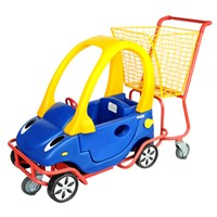 Children Shopping Trolley with a toy car used in supermarket