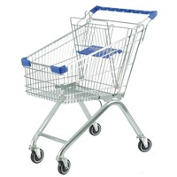 Supermarket shopping trolley on wheels factory direct sale
