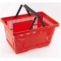 plastic red shopping basket with 28 liter wholesale