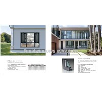 New design HA76 Series integrated casement windows with flyscreen