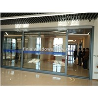 European standard electric automatic aluminum sliding door