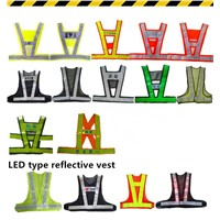 high visibility safety reflective warning vest