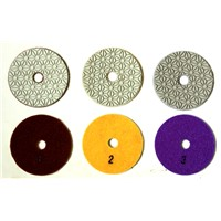 3 steps polishing pad