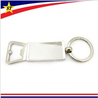 Personalized Zinc Alloy Blank Beer Bottle Opener Key Chain