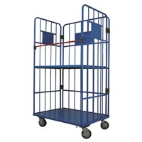 Foldable warehouse heavy duty cargo trolley , logistic trolley, security roll container