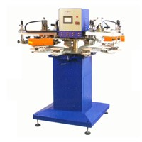 SR-130F10-4 4-color high speed tagless/label screen printer (10 worktable)