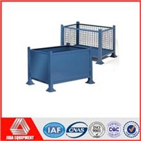 foldable storage rigid metal weld wire cage pallet