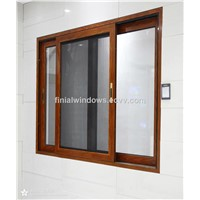 Top quality and cheap price double/triple track aluminum alloy sliding glass window manufacturer