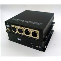 2CH Bidi XLR balanced audio fiber optical converters