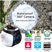 360 Panoramic Camera 30M Waterproof Sport Video 4K WIFI Mini Camera Sport Driving VR Camera