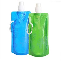 Bpa Free Stand-Up Foldable Drinking Water Bag/Bottle