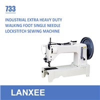 Lanxee 733 walking foot flat bed extra heavy duty sewing machine