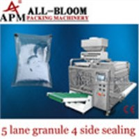 Multi lane fish food filling and packing machine