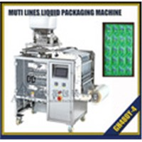 multi lane liquid and paste filling and packing machine