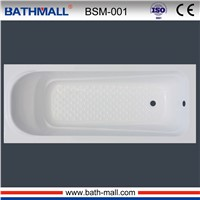 Cheap acrylic built in bathtub with anti slip for sale