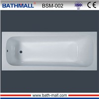 Cheap plastic built in bathtub with anti slip for sale