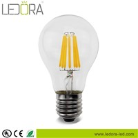 Hot sale! 4w 6w 8w E26 E27 dimmable A60/A19 led filament bulb