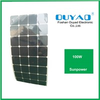 100W sunpower flexible solar panel for boat use