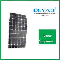 200W sunpower flexible solar panel for marine use