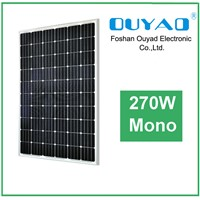 270W mono solar panel for home solar power system
