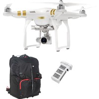 DJI Phantom 3 Professional with 4K Camera and Battery Bundle with Backpack