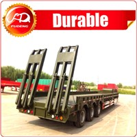 Heavy duty 40-60 ton low flatbed semi trailer low bed excavator truck trailer trucks and trailers