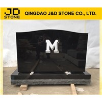 Shanxi black granite serp top headstone