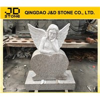 cheap angel heart headstone monument