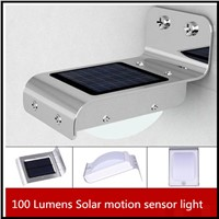 2016 Popular  Solar 16 SMDLED Motion Sensor PIR outdoor Wall Mounted solar Garden Lights or  lamps