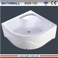 High deep acrylic shower tray for steam room