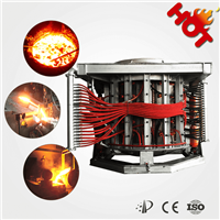 1-60 tons Iron, steel induction melting furnace with hydraulic pouring