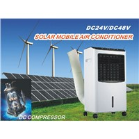 Newest 24 /48V Portable Mobile 100% Solar DC Air Conditioner