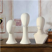 shop display mannequins head with fabric cover