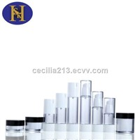 Hot sale cosmetic airless plastic bottle and jar