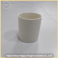 White Cylinder Shape Ceramic Candle Jar