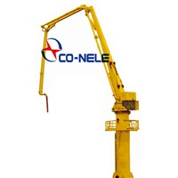 stationary hydraulic placing boom concrete spreader
