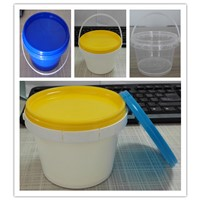 Food grade 500ml small round plastic bucket with lid with handle