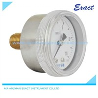 Stainless Steel Housing Pressure Gauge with Screw-in Type Ring