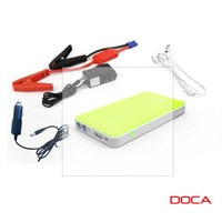 DOCA D569 Emergency Power Bank Portable 8000mAh Dual USB Car Jump Starter 12V