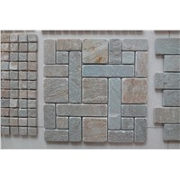 natural slate mosaic used for wall or floor decoration