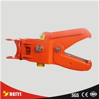 New type  rotary/fixed BEIYI hydraulic scrap shear for excavator with strong cylinder