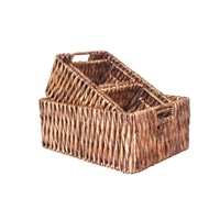 Vietnam Handmade Crafts Water Hyacinth Storage Baskets S/4
