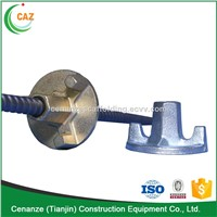 45# steel formwork tie rod and cast iron wing nut