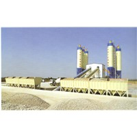 HZS120 Central mix concrete batch plant