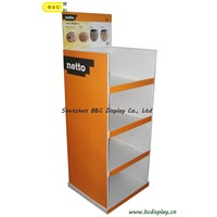 Hot selling Floor Cardboard Display Stand with SGS(B&C-A012)