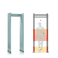 6 detection zone walk through metal detector door frame metal detector