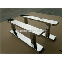 Sliding stainless steel tempered glass door handle
