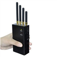 4 Band 2W Portable Mobile Phone Jammer for 4G